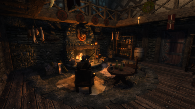 The Four Shields Tavern Interior - Hearth (With four shields!)