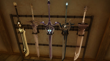 Weapons of the genshin