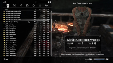 Enchanted Crafting Gear Through Alchemy and Smithing Skills