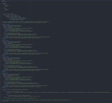 the entire code still fits in one big screenshot