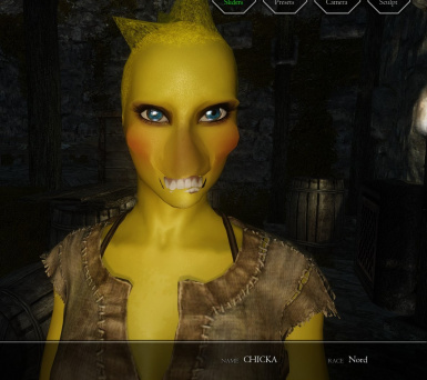 chica from fnaf in skyrim lol nord female