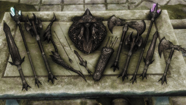Daedric Light Weapons- Mihail Weapons and Shields (mihail oldrim mod)