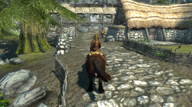 This road in riverwood will lead to the house
