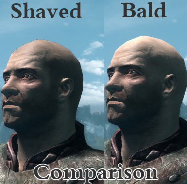 Bald and Shaved comparison