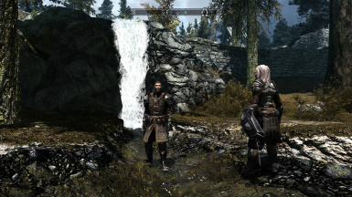 waterfall during day with TAVE Exterior whiterun