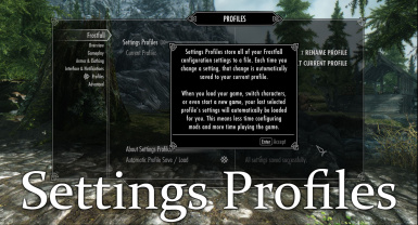settings profiles