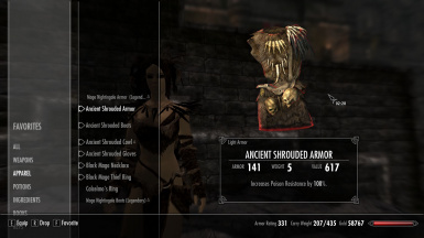 Ancient Shrouded Armor to Forsworn