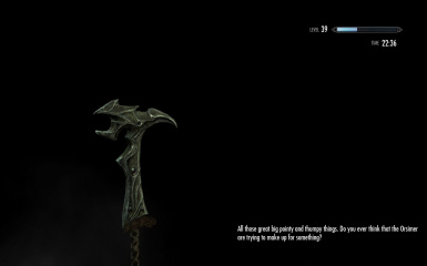 A really helpful hint from Uncle Sheogorath
