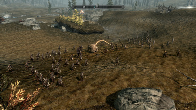 Saurons Army Clashes With Elves and Man