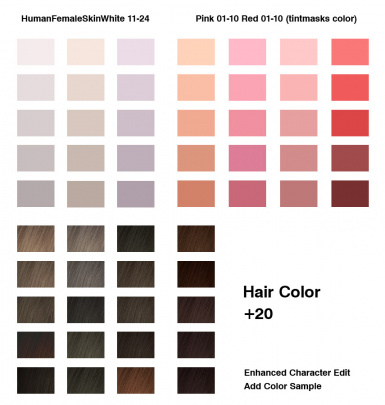 add color chart