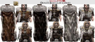 Ornate Bear Claw Cloaks