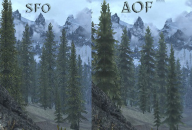 SFO vs AOF tree LODS