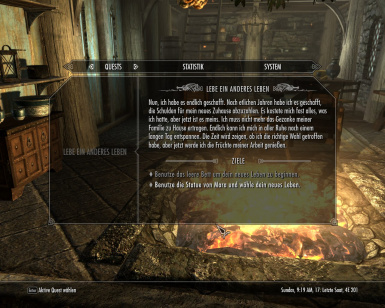 how to start live another life skyrim