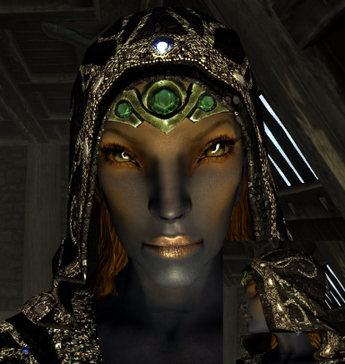 Craftable and enchantable nocturnal dress and hood