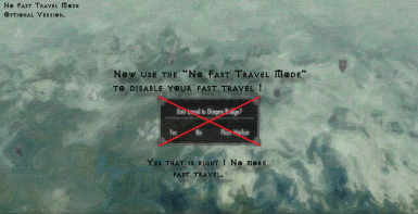 No Fast Travel Mode
