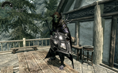 Thanks! (ThunderBird Armor; Daedrick cloak from Cloaks of Skyrim)