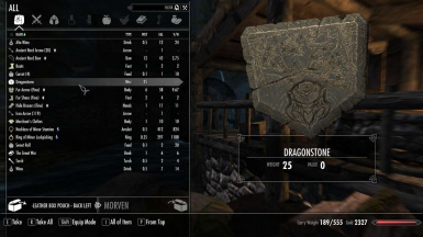 Store quest items in wearable containers