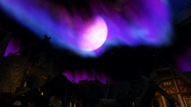 Purple night aurora - So colorful!