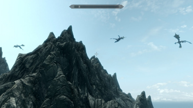 dragons flies above the town