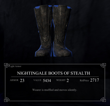 Nightingale Boots of Stealth