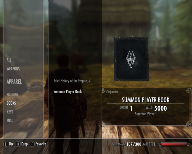 Summon Player Book