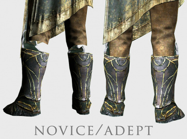 novice and adept robes before and after