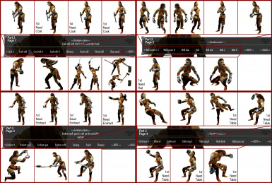 Sample of Furniture Animation Poses