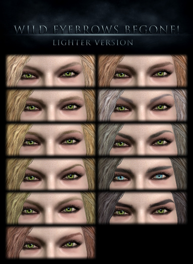 Lighter version of the eyebrow textures