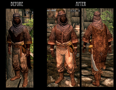 Redguard Outfit - Male and Female have the same texture