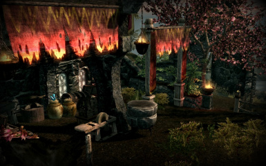 Outdoor crafting area