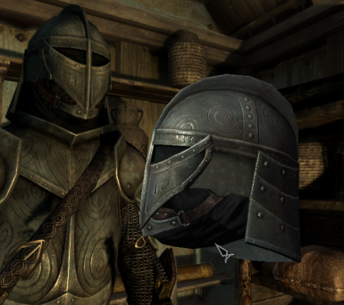 Steel plate helm without wings - world model