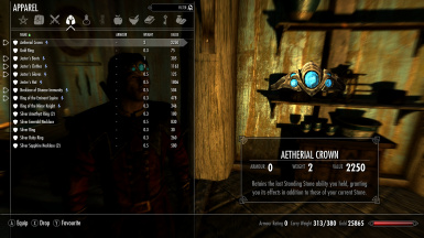 Armor Menu before you have to choose between Crown and Hat