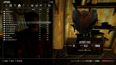Armor Menu after you can equip both the Aetherial Crown and the hat