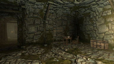 The room you enter in Helgen Keep while following Hadvar the Imperial Soldier