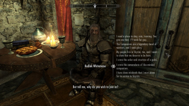 More dialogue for better roleplaying