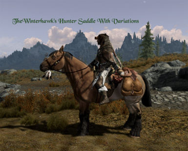 TheWinterhawks Hunter Saddle With Variants at Skyrim Nexus