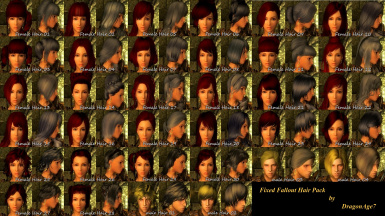 Fallout Hair Pack Fixed with NPCEditor Support
