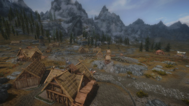 Aerial View of Whiterun With Perfect White Run and Rabbits foot caravan