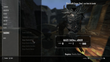 Daedric Armor for Mages