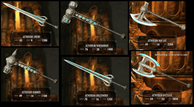 Aetherium Melee Weapons