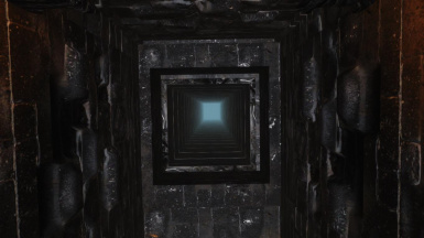 Shaft where gandalf is send to the top of the Tower
