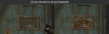 Click Frame to Place Painting