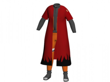 updated naruto outfit with sage jacket on