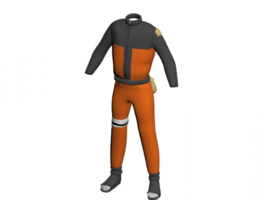 front of updated naruto outfit