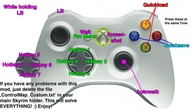 better xbox360 controller 8 hotkeys quicksave load at skyrim rh nexusmods com skyrim xbox guide skyrim guide xbox 360
