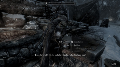 Not Even The Dragonborn Scares Him