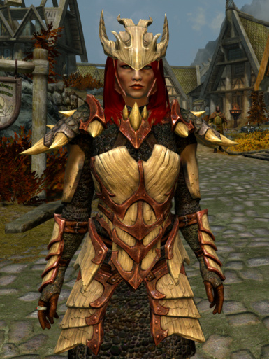 Dragonscale Ivory Armor High-Res