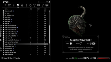 Light Masque With Improved Daedric Artifacts