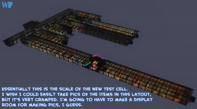 WIP view of the new test cell mainly for scale