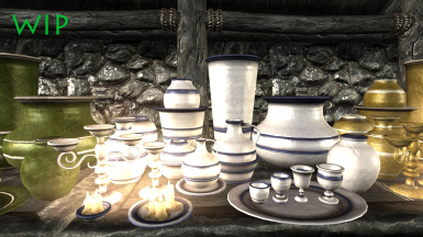 Glazed china-look set- Unfortunately not all of these are havoked yet